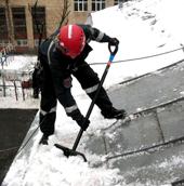 Уборка крыш снега и наледи