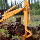 Выкорчевывание деревьев